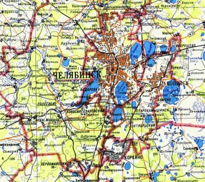 gps карта челябинской области: