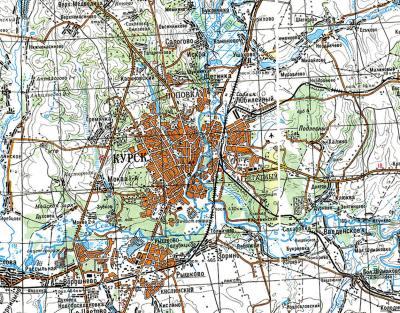 Спутниковую карту Курской